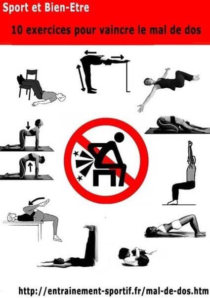 exercices pour renforcer le dos